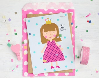 My Little Princess Card, Party, Happy Day, Celebration, Congratulations, Pink Stationery, Happy Cards, Pink Party, Princess Card