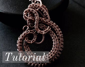 Wire Wrapped Jewelry Tutorial - INNER CLOCK Charm - Jewelry Tutorials - Wire Woven - pdf - digital download - DIY Jewelry Making Ideas