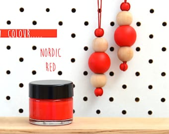 Nordic red//Wood paint //Craft Paint- Nordic Red- 15ml jar - 10 other Beautiful Colours Available.
