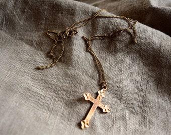Vintage Gold Filled CROSS Necklace