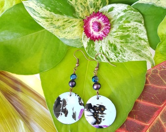 Persephone Disc Dangle @BonnieAndBlu Handmade ~ Dangle Earrings ~
