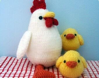 Amigurumi Knit Chicken and Chicks Pattern Set Digital Download