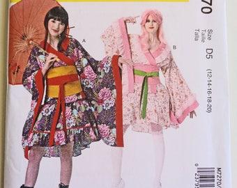 Steampunk Kimono, ComicCon Style Wrap, Sewing Pattern, Womens Top, Skirt, Obi, Belt, Cosplay Gothic Design, Reenactment Festival, Boho Dress