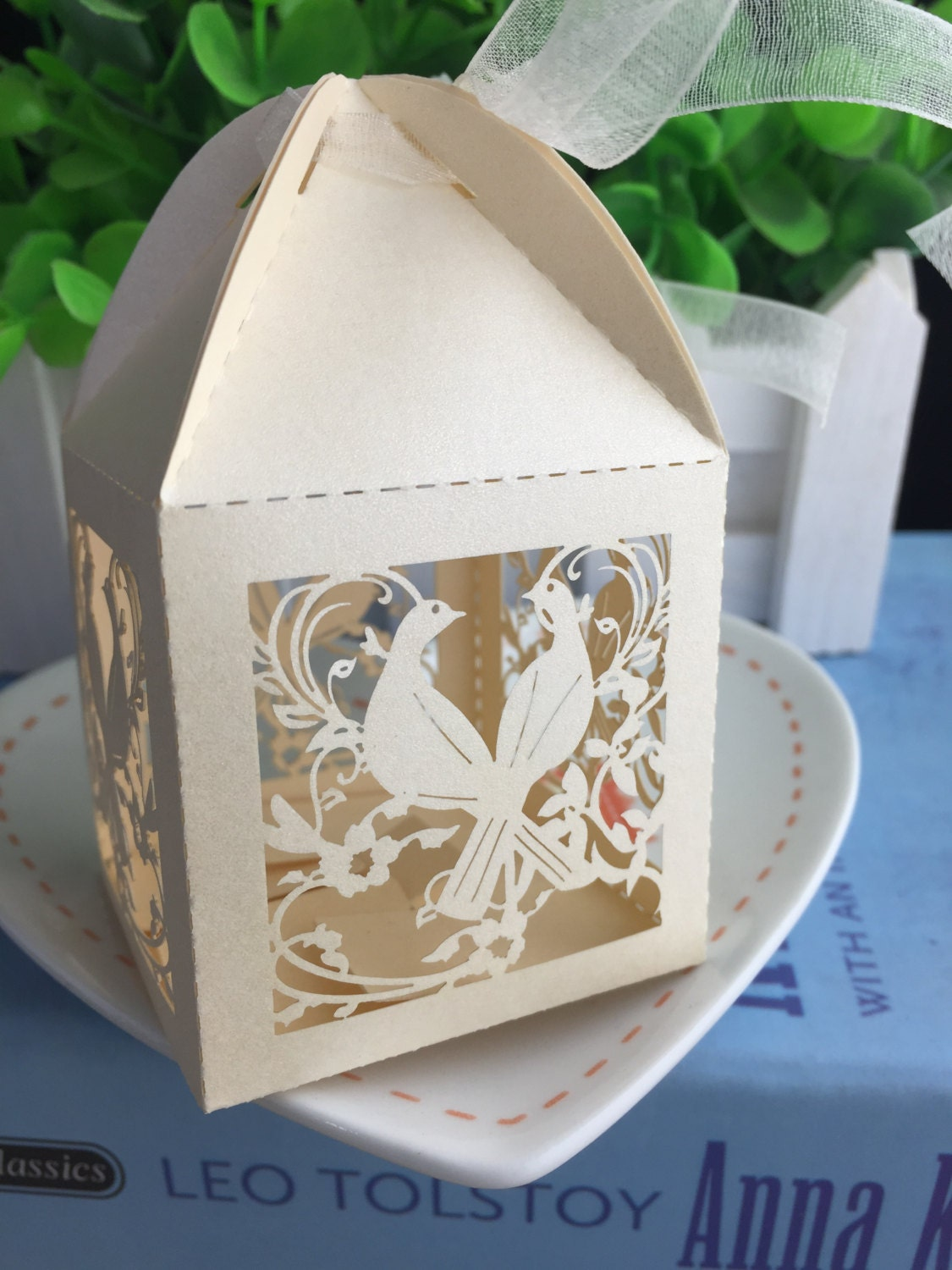 100pieces Free Shipping Laser Cut Chocolate Packaging Boxes