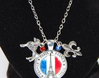Paris Glass Cabochon Necklace
