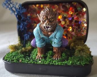 Wolfman Miniature Monster Diorama
