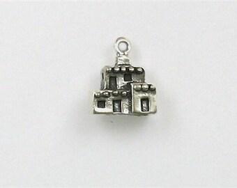 Sterling Silver 3-D Pueblo House Charm