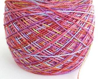 Bamboo Yarn Hand Dyed Yarn by FiberFusion Soft Yarn Unique Yarn One of a Kind Yarn Fingering Weight yarn 664 yards Pastel - English Rose