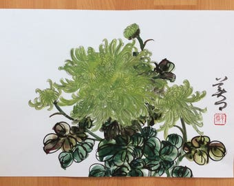 Original Chinese Painting-Flower(Chrysanthemum)