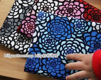 billycottonshop - m602_55 - Japanese floral fabrics - cotton fabrics - half Yard ( 3 color to choose )