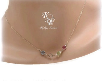 Grandma Necklace Mother Necklace Family Birthstone Necklace FREE Gift Box Mothers Jewelry Birthstone Jewelry Mothers Day Gift for Mom