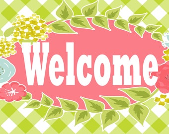 Welcome Sign - Fresh Spring Easter Garden
