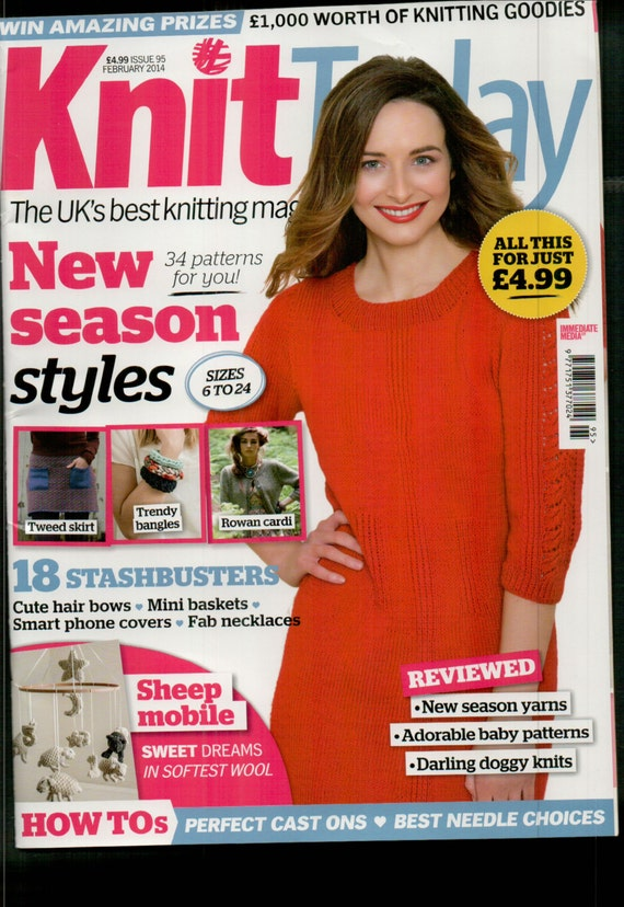 Knit Today Knitting Magazine Issue 95 February 2014
