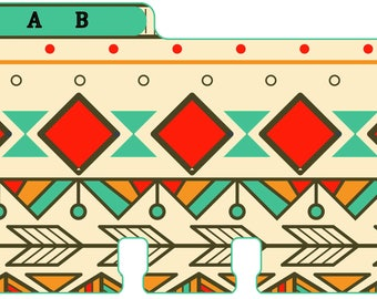 Rolodex Dividers in Aztec Print