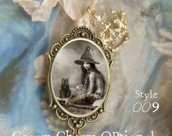 Witch - Wiccan - Wicca _ Warlock - Pendant with Chain and Ribbon  'See drop down menu for options'
