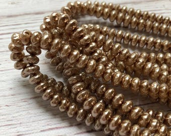 8mm Cocoa Pearl Spacer Beads, 75 pcs