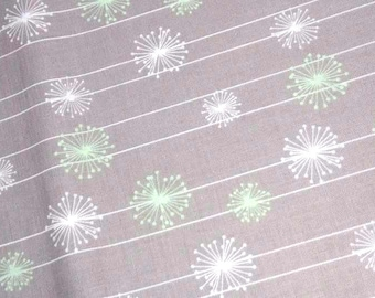 Dandelion Fabric, Grey, Mint, Good Natured by Riley Blake Designs, by the metre, half metre or FQ, 100% cotton