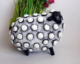 Art Decor / Sheep Decoration / Paper Mache Sculpture / Handmade gift / Interior Sculpture