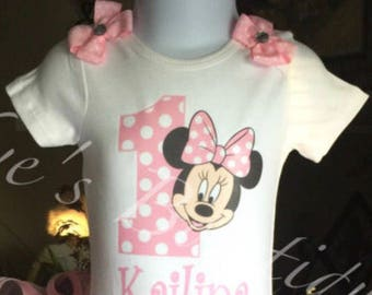Pink Minnie Mouse Birthday Onesie | Minnie Mouse Birthday Shirt | 1/2 Birthday | 1st 2nd 3rd 4th 5th