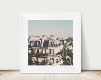 Paris photography, Paris print, Paris decor, Paris rooftops photograph, Parisian apartment, Paris travel photograph