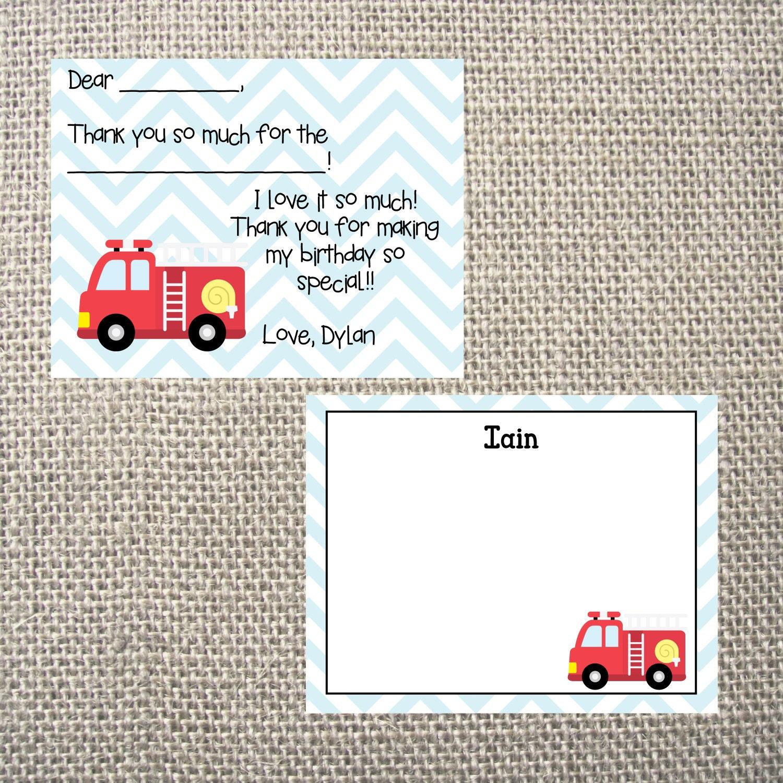PRINTED or DIGITAL   Fireman   Birthday Party Invitation   Invites ...
