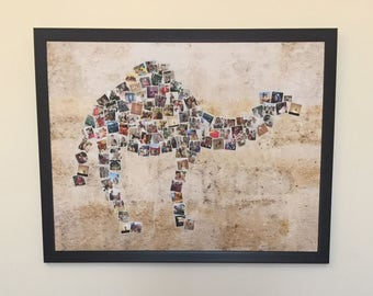"Camel Collage - Personalized with 108 of your photos - 4 background options - Digital file - 40""x30"" (100.2 cm x 76.2 cm)"