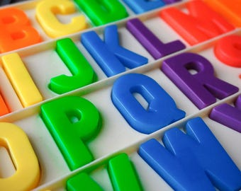 Vintage 1970s Fisher Price Magnetic Letters and Numbers, Choose Letter and/or Number and Quantity