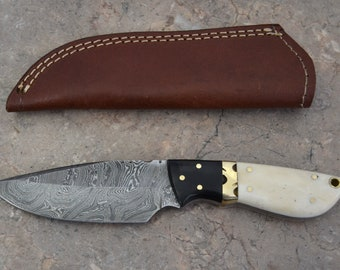 Damascus Steel Hunting Knife SK 16