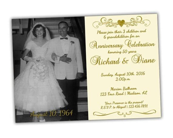 Printable ivory th anniversary invitations th wedding