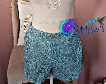 Lace Short Baby Blue