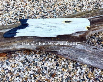 American Bald Eagle on Driftwood