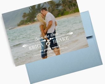 Photo Save the Dates, Beach Weddings Announcements, Single Photo Save the Dates, Postcards, Photo Invites