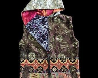 25% OFF SALE One of a Kind - PSYCHEDELIC Pausley Vest - (Size Large)