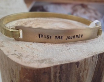 Trust the Journey // Hinged Brass Cuff