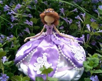 Sophia Bendy Doll ~ Princess ~  Rose Princess ~ Waldorf Flower Doll ~ Purple Fairy