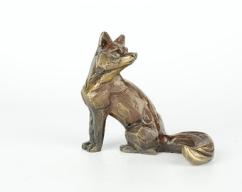 bronze Fox limited edition Bronze sculpture with presentation box