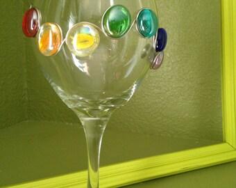Rainbow wine glass