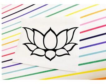 Lotus Decal || Lotus Sticker || Lotus Flower Decal Sticker Laptop | Flower Decal || Flower Sticker || Flower Car Decal ||
