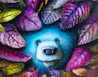 Bear Print -  Painting - Surrealism - Pop Art -