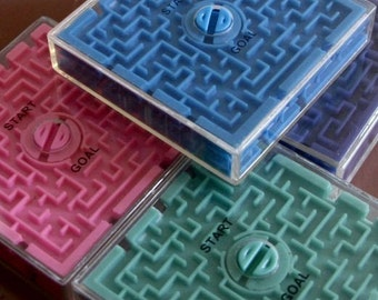 1970s Large plastic Ball Maze Toy VERY COOL