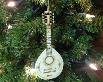 Mandolin 1 Personalized Christmas Ornament