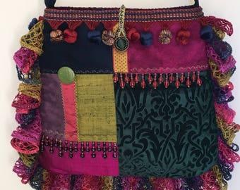 Shoulder/Cross body Tote Bag, Boho Bohemian Gypsy Style