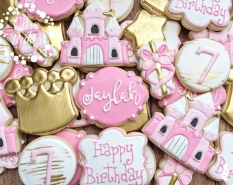 Princess Birthday cookies - 1 dozen
