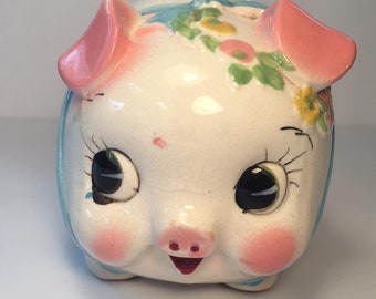 Vintage Porcelain Piggy Bank