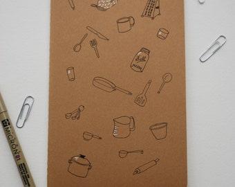 Kitchen Theme Illustrated Moleskine Cahier Journal