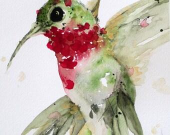 Hummingbird Art Large Archival Print
