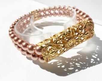Classic Stretch Gold-tone Fitbit Flex Bracelet**