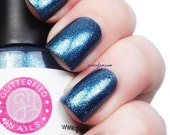 Tempest- Navy Blue Color Shifting Nail Polish 5 free nail polish handmade indie nail polish vegan cruelty free blue green gold