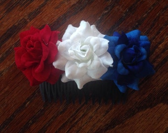 4th of July Hair Comb