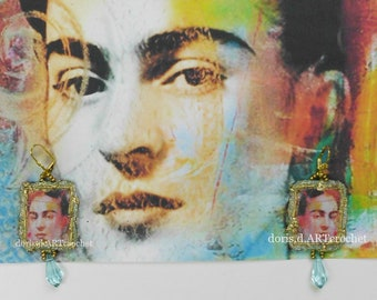 Frida Kahlo earrings,earrings,nickel-free,must have,enchanting earrings,haute couture earrings,art earrings,regency